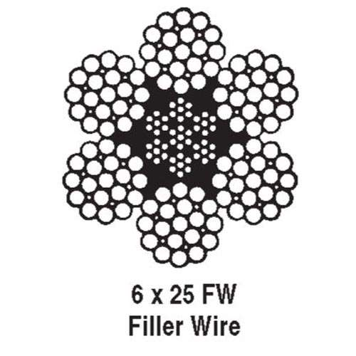 5 8 Quot 6x25 Iwrc Rrl Eips Wire Rope Domestic 20 6t Break