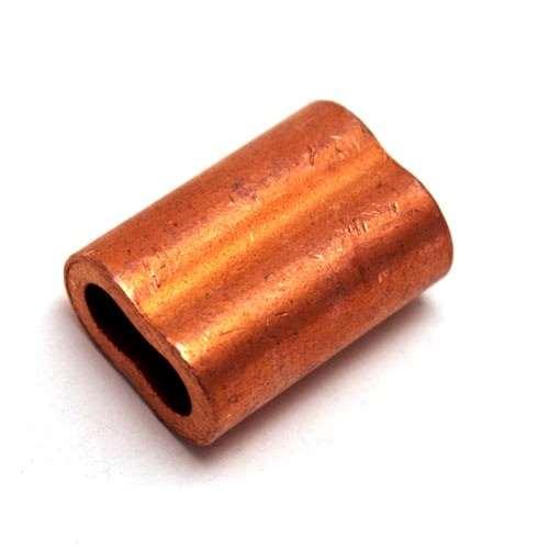 Quot copper nicopress style swage ferrule sleeve