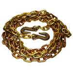 "3/8"" X 20' G-70 Binder Chain w/  Grab Hooks Each End"