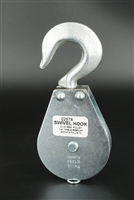 "Swivel Hook Block - 1/4"" Wire 2-1/2"" Sheave - Wll 685 Lbs"